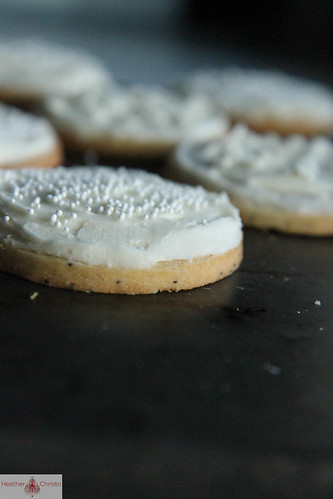 Almond Poppyseed Frosted Cookies
