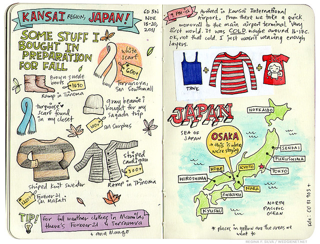 Wedgienet: Japan illustrated travel journal