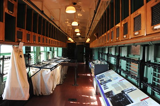 D7G_0661 Inside of the RPO Railroad Post Office car built in 1921, only 2 of the 18 RPO cars still exist, at the Railpark and Train Museum, Bowling Green, KY, on Nov. 16, '12.