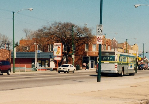 Eastbound CTA Rt # 62 / Archer Avenue bus.  Chicago Illinois.  April 1990. by Eddie from Chicago