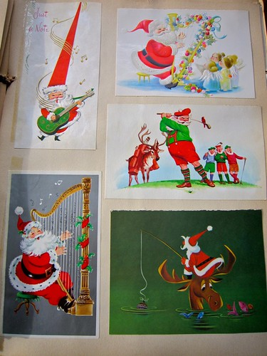 Vintage Christmas Cards Scrapbook 1 / 24