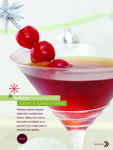 Holiday Manhattan with Spiked Cherries