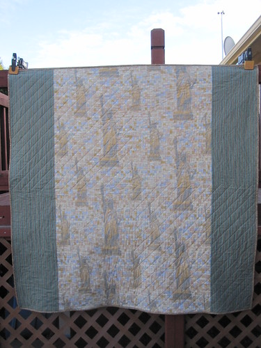 back of Giant Granny Quilt