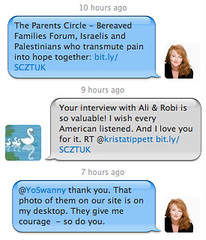 Twitter conversation between Krista Tippett and Swanny