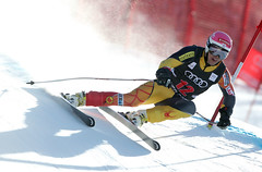 Ben Thomsen during men's downhill training in Beaver Creek.