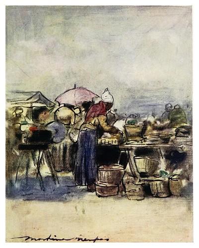 005-Mercado en Montmartre-Paris (1909)-Mortimer Menpes