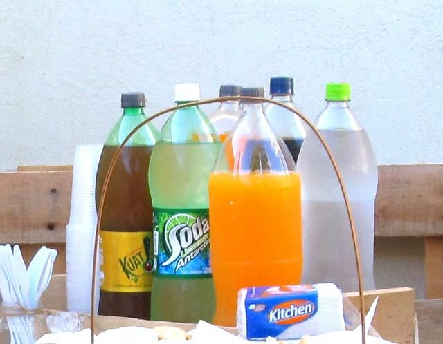 Refrigerantes em festa de aniversário