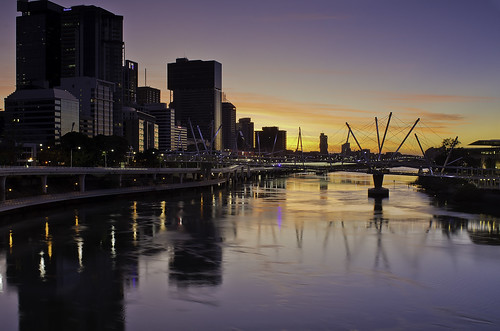 city sunrise reflections cityscape pentax brisbane brisbaneriver k5 carlzeiss zk