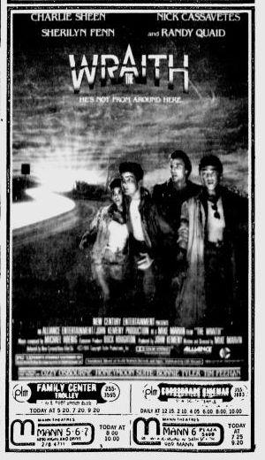 The Wraith movie ad