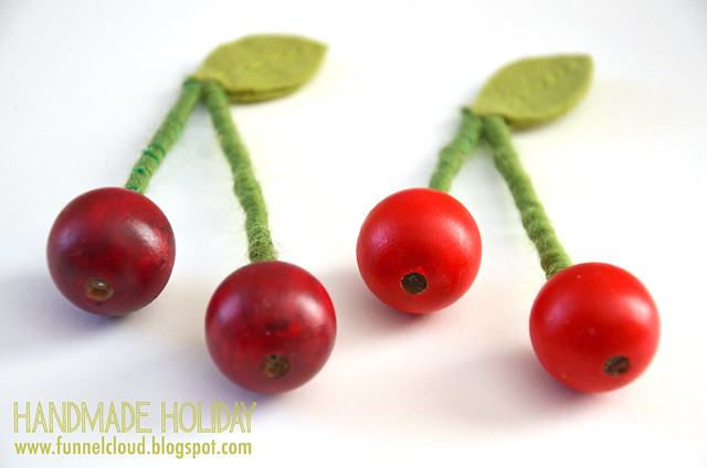 handmade holiday | cherry ornaments