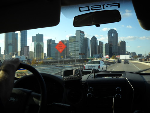 Approaching downtown Dallas by Janis Gore