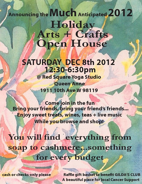 Holiday Arts + Crafts Open House: Dec 8 in Seattle!