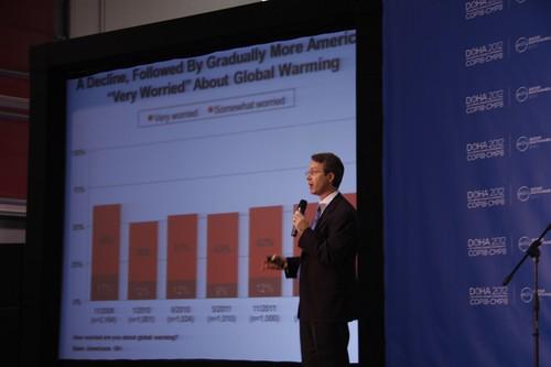 耶魯大學氣候變遷傳播計畫主持人Anthony Leiserowitz (謝雯凱攝)