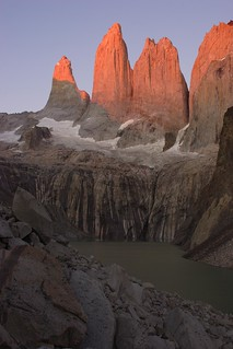 First Light on Torres Del Paine