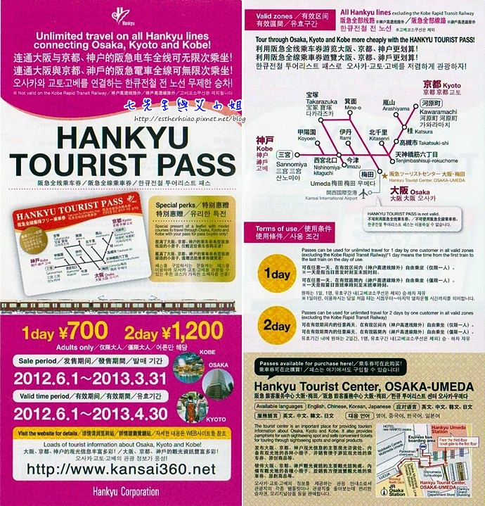 3 HANKYU TOURIST PASS