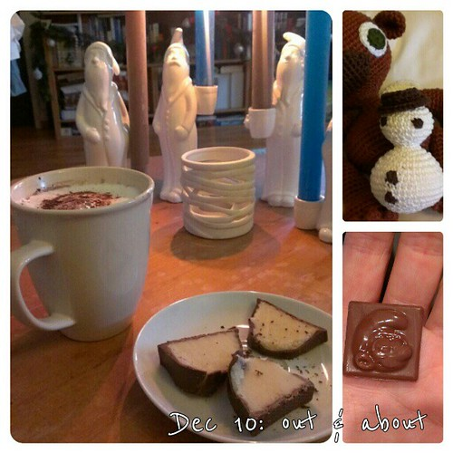 Dec 10: out & about: cozy Sunday today with hot #chocolate some #crochet and my calendar .. #fmsphotoaday
