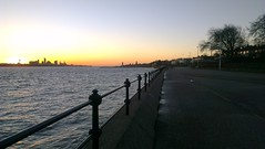 Liverpool from Vale Park Promenade Gates: Copyright 10th December, 2012 Kevin & Jane Moor