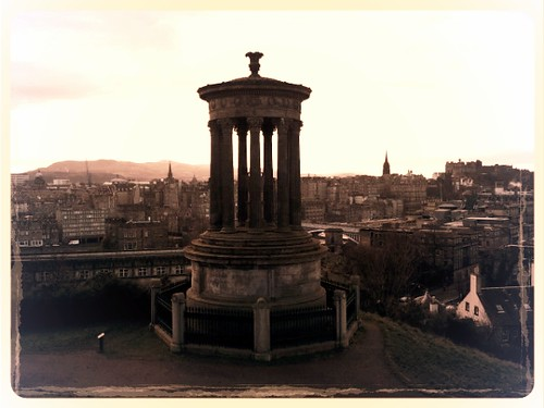 Dugald Stewart Monument on Edinburgh's Calton Hill
