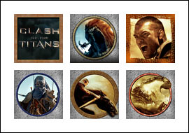 free Clash of the Titans slot game symbols