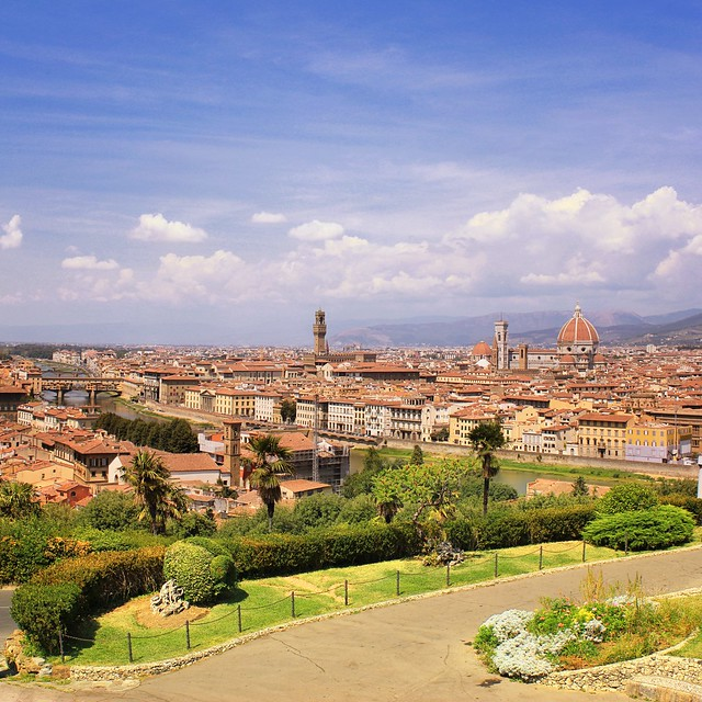 My postcard of Florence