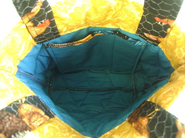inside of rooster bag