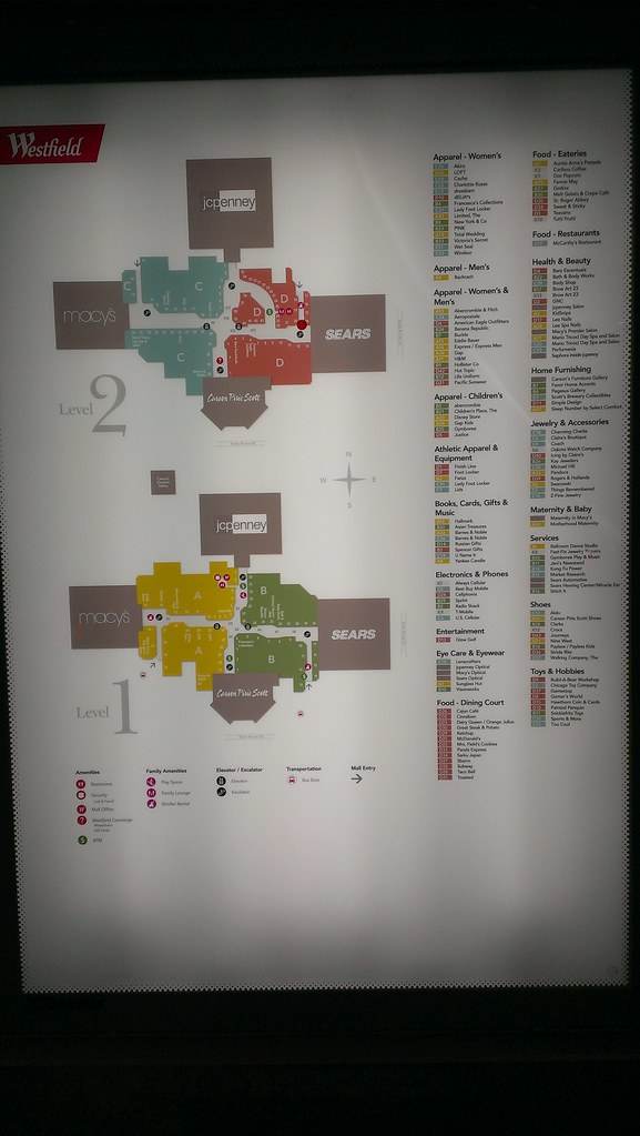 Hawthorn Mall Map Hawthorn Westfield   Vernon Hills (Chicago), Illinois   Mall  Hawthorn Mall Map
