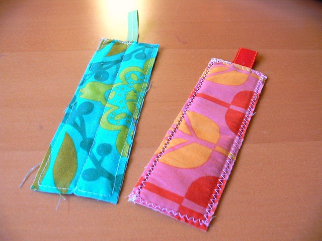 Jenny: Fabric bookmarks
