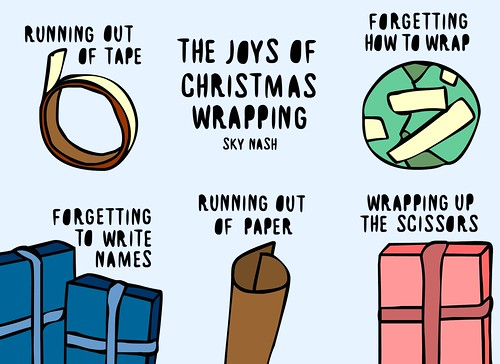 The joys of christmas wrapping