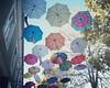 My highlight of #montenegro's second town, Niksic, are the #colorpop umbrellas #flyinghigh outside Propaganda Bar. #umbrella #travelphotography #travelgram #travel #marypoppins