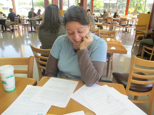 October 3: Kate Enjoys the Paperwork