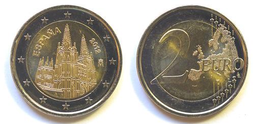 2 Euros de España del 2012: Catedral de Burgos