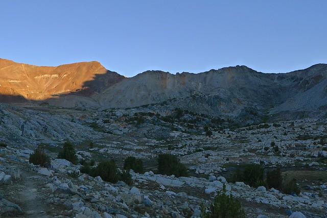 Morning Light on the Way Up to Pinchot Pass