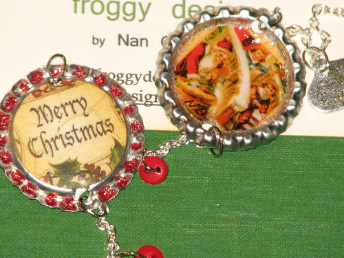 Ink Stains Altered Christmas Charm Swap 023