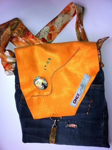 Tas van oude spijkerbroek