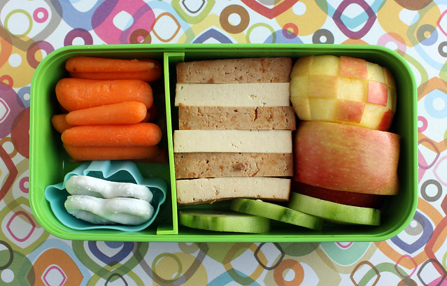 Preschool Checkered Apple Bento #357