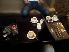 Un café et ça repart, direction Moscou !