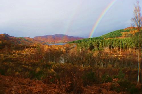 Rainbows at Loch Garve, Scotland