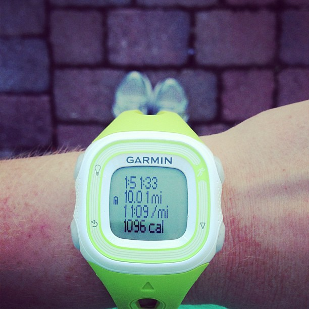 Longest run before the #orlandohalf #doubledigits #ouch