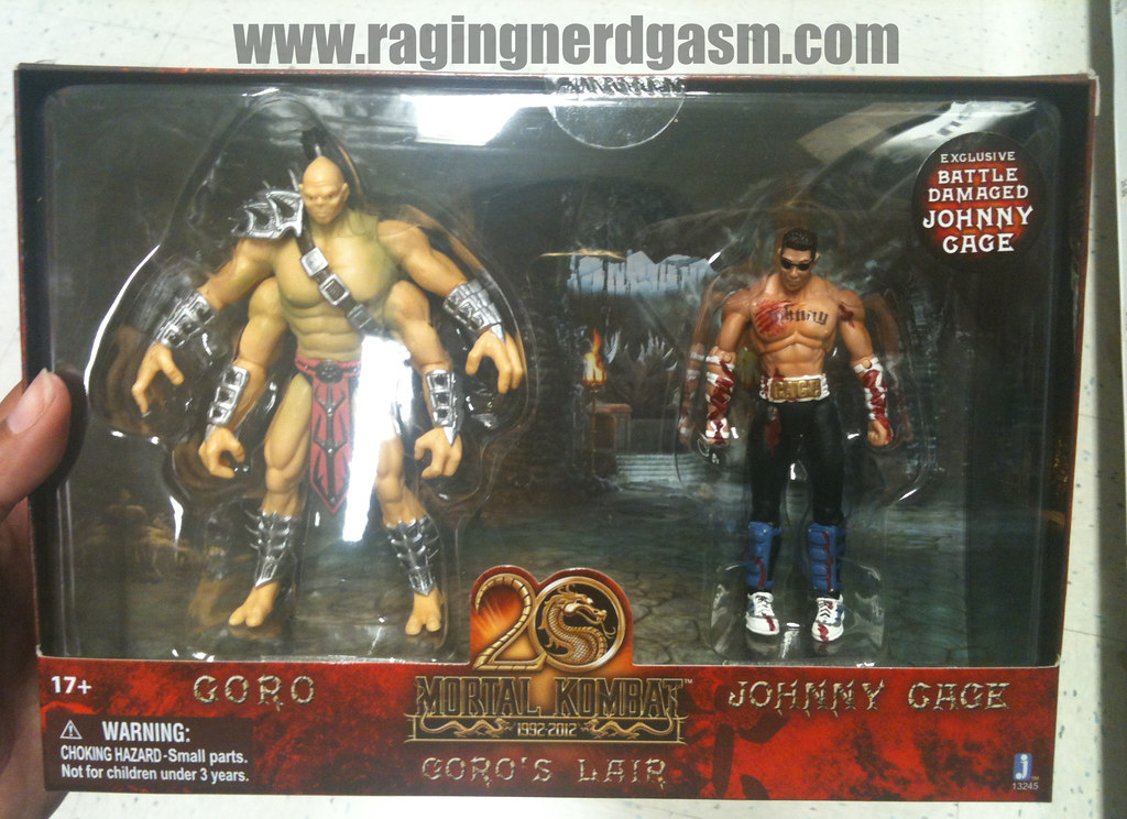 Mortal Kombat Mini Figurines Goro's Lair - Goro and Johnny Cage by Jazwares 014