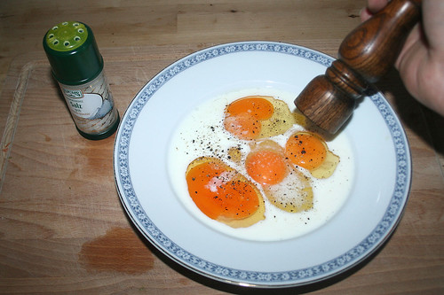 22 - Mit Salz & Pfeffer würzen / Taste with salt & pepper