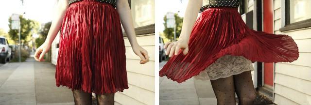 twirling slip showing skirt