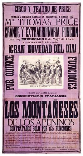 006-Circo Price-Los montañeses de los Apeninos-1876-Copyright Biblioteca Nacional de España