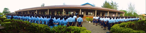 Assembly at Louisville High School, Ijebu-Itele, Ogun State, Nigeria