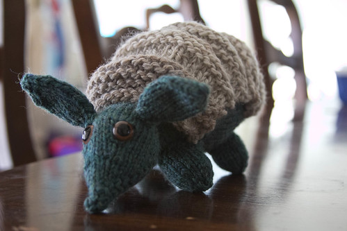 Another knitted armadillo