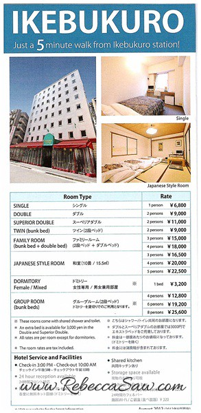 Daily Stay in Tokyo Sakura H-Hostel 2