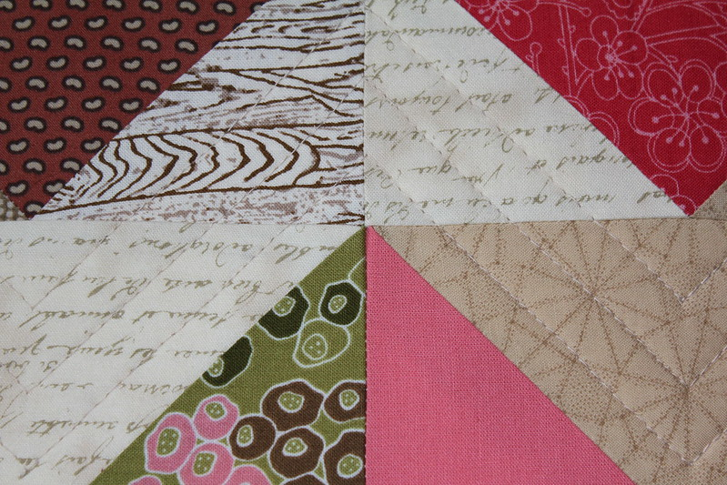 Chevron Geese Quilting Close Up 1