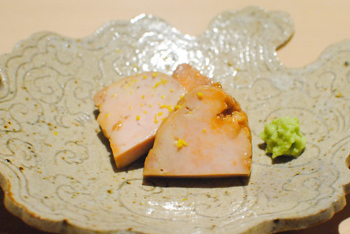 monkfish liver with yuzu