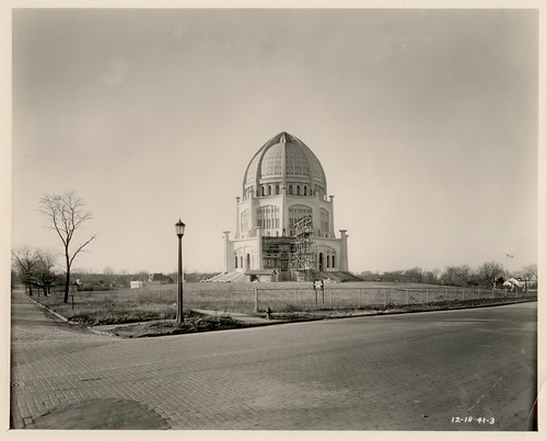 Baha'i House of Worship with scaffolding