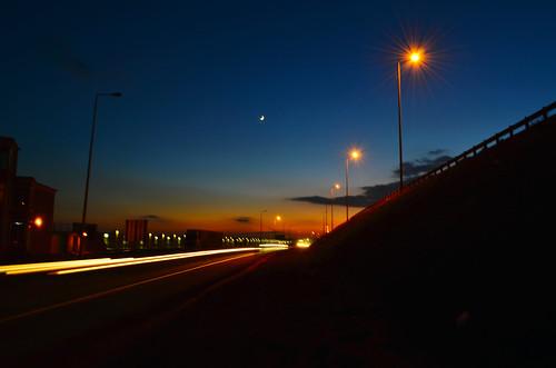 sunset nikond5100 nikkor1855longexposure sunsetlightroad