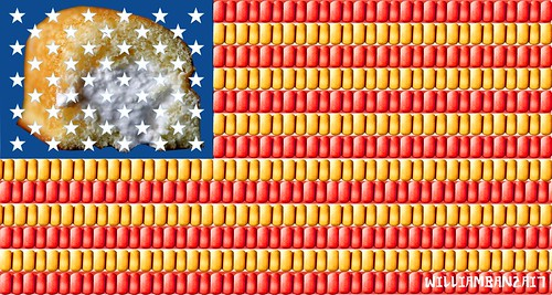 TWINKIE AMERICAN FLAG by Colonel Flick